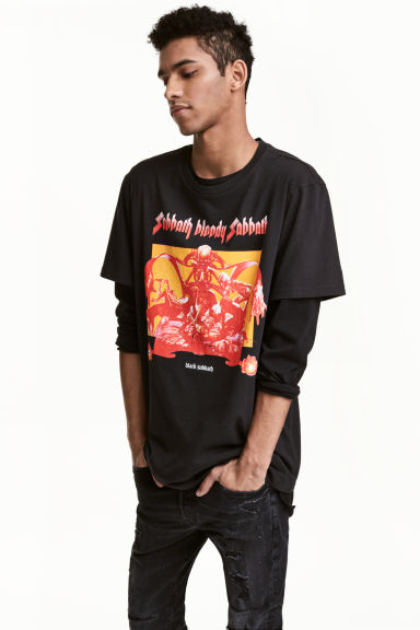 Printed T-shirt - Black/Black Sabbath - Men | H&M