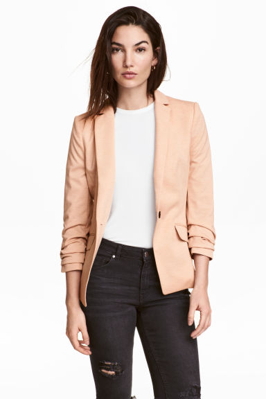 Jersey jacket - Powder marl - Ladies | H&M CA 1