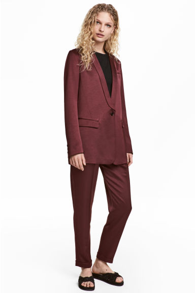 綢緞長褲 - Burgundy - Ladies | H&M 1