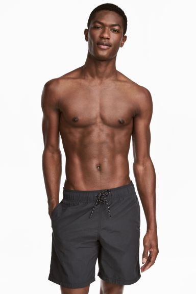 Knee-length swim shorts - Black - Men | H&M CN 1