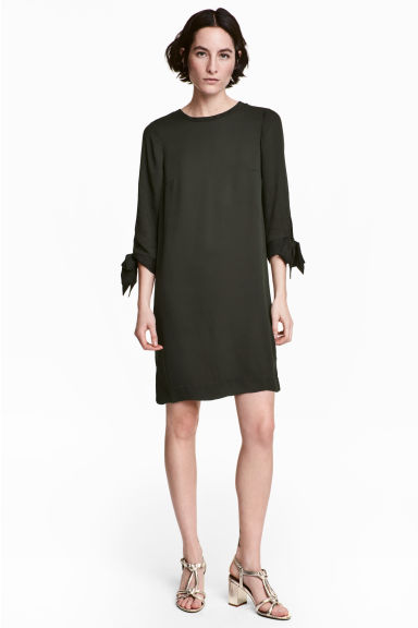 Knee-length dress - Dark Khaki - Ladies | H&M 1