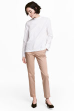 Lyocell blend chinos - Light beige - Ladies | H&M 1