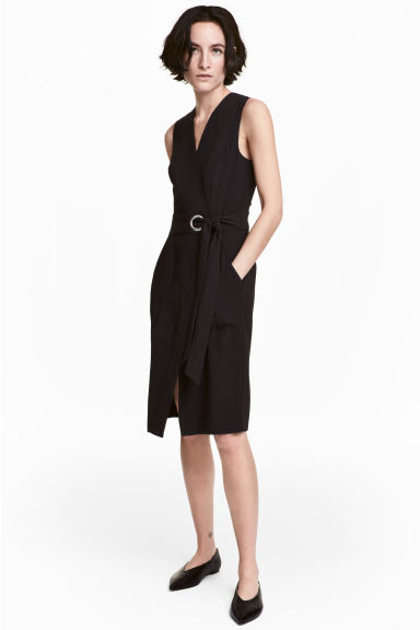 Abito incrociato - Nero - DONNA | H&M IT 1