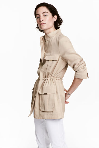 Lyocell jacket - Light beige - Ladies | H&M 1