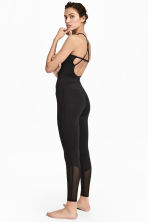 Yoga jumpsuit - Black - Ladies | H&M 1