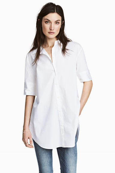 Long shirt - White - Ladies | H&M