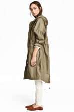 Long parka - Khaki green -  | H&M 1