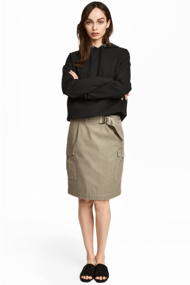 Cargo skirt - Khaki - Ladies | H&M CN 1