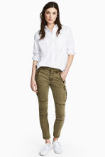 Lyocell blend cargo trousers - Khaki green - Ladies | H&M 1