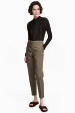 Suit trousers - Khaki green - Ladies | H&M CN 1
