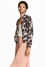 Satin bomber jacket - Powder/Patterned - Ladies | H&M 1