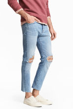 Relaxed Skinny Cropped Jeans - Light denim blue - Men | H&M IE 1