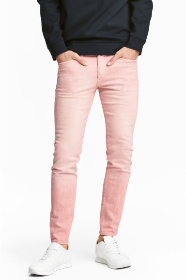 Skinny Low Jeans - Light pink denim - Men | H&M