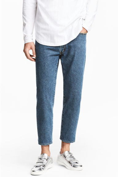 Straight Regular Cropped Jeans - Denim blue - Men | H&M CA 1