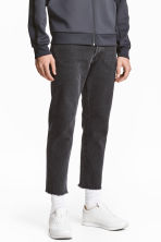Straight Regular Cropped Jeans - Dark grey denim - Men | H&M 1
