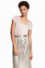 Jersey top - Powder pink - Ladies | H&M CN 1