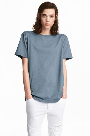 Round-necked T-shirt - Pigeon blue - Men | H&M CA 1