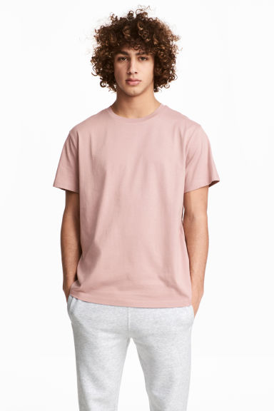 Round-necked T-shirt - Light pink - Men | H&M 1