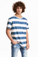 單胸袋T恤 - White/Blue striped - Men | H&M 1
