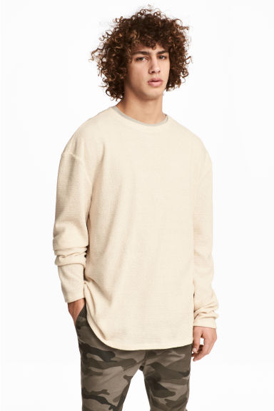Knitted jumper - Light beige - Men | H&M CN
