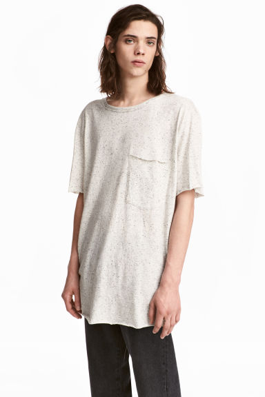 T-shirt con taschino - Bianco naturale/neps - UOMO | H&M IT 1