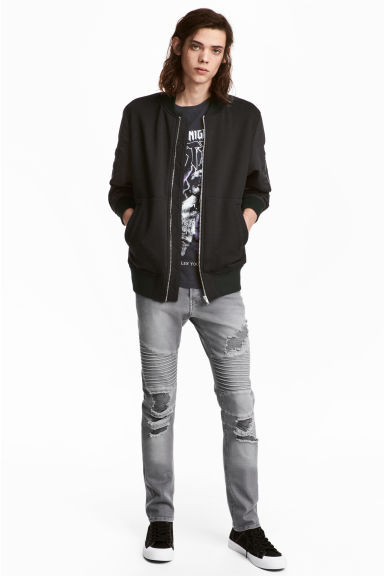 Biker jeans - Grey denim - Men | H&M