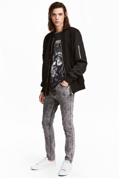 Skinny Regular Jeans - Grigio/Acid - UOMO | H&M IT 1