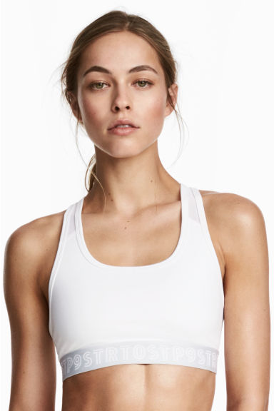 Sports bra Medium support - White - Ladies | H&M 1