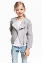 Biker jacket - Light grey - Kids | H&M GB 1