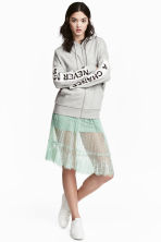 Knee-length lace skirt - Pistachio green - Ladies | H&M CN 1