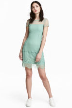 Lace dress - Pistachio green - Ladies | H&M CN 1