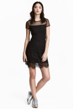 Lace dress - Black -  | H&M 1