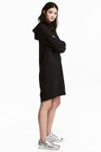 Hooded sweatshirt dress - Black - Ladies | H&M CN 1