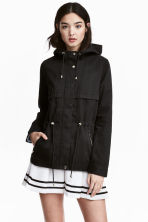 Short parka with a hood - Black - Ladies | H&M CN 2