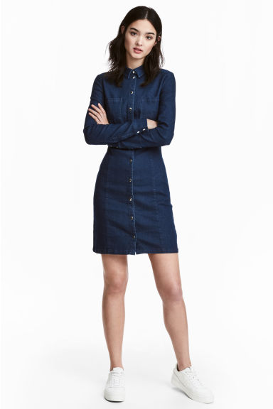 Chemisier attillato - Blu denim scuro - DONNA | H&M IT 1