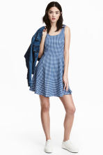 Jersey dress - Blue/Checked - Ladies | H&M GB 1