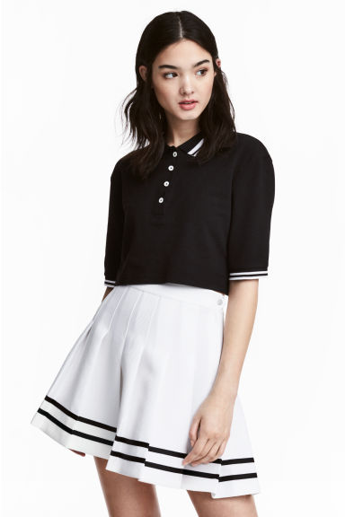 Pleated skirt - White - Ladies | H&M