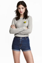 Cable-knit jumper - Grey - Ladies | H&M 1