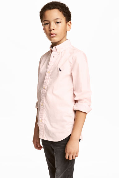 Cotton shirt - Light pink - Kids | H&M CN