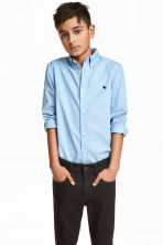 Cotton shirt - Light blue - Kids | H&M CN 1