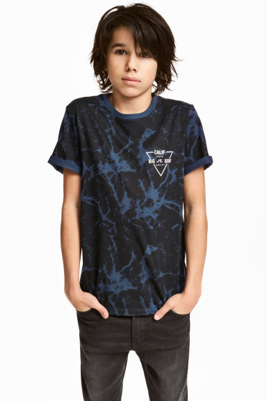 T-shirt con stampa - Nero/blu -  | H&M IT 1