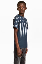 Printed T-shirt - Dark blue/Stars -  | H&M CN 1