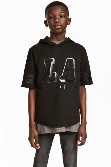 T-shirt con cappuccio - Nero/Los Angeles - BAMBINO | H&M IT 1