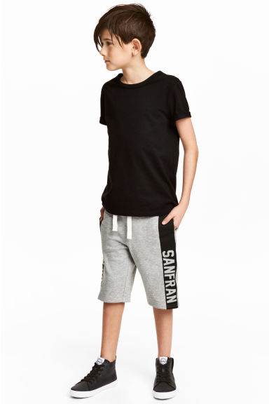 Short en molleton - Gris chiné - ENFANT | H&M FR 1