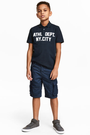 Knee-length cargo shorts - Dark blue - Kids | H&M