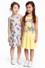 Lot de 2 robes en jersey - Jaune clair/My Little Pony - ENFANT | H&M CH 1