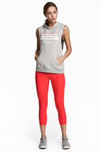 3/4-length sports tights - Red - Ladies | H&M CN 1