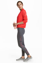 Sports tights - Dark grey marl -  | H&M 1