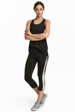 Leggings sportivi a tre quarti - Nero - DONNA | H&M IT 1