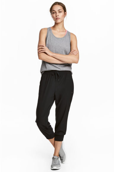 3/4-length sports trousers - Black - Ladies | H&M 1